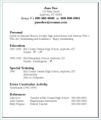 Examples Of First Resumes Classic Grey Sample Resumes For College ...