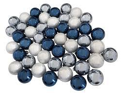Christbaumkugeln Blau Silber Weiß 49 Stück Echt Glas