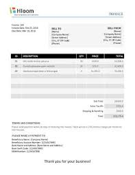 33+ Simple Invoice Format Word Gif