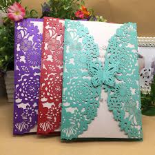 popular wedding invitations buy cheap wedding invitations lots Wedding Invitations Buy Online Uk 10set butterfly wedding invitation cards multi color laser cut bussiness cards party souvenirs wedding centerpieces wedding invitations cheap online uk