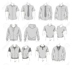 Clothes Template Vector Set Of Clothes Template For Visualisation Branding Promo