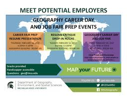 geography career day job fair msu department of uab career internship event 2017