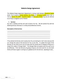 simple contract for services template finally a simple web design contract template docsketch