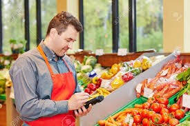Store Manager In Supermarket Using A Mobile Data Registration