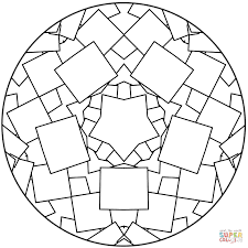 Simple Mandala Coloring Pages For Kids Printable Coloring Page For