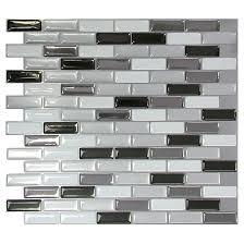self adhesive wall tile metallik