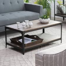 Belham Living Franklin Reclaimed Wood Industrial Coffee Table | Hayneedle