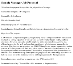 Project Proposal Format Enchanting Manager Job Proposal Template
