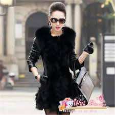 fur coat with leather sleeves tradingbasis