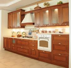 Modern Wooden Kitchen Cabinets Kitchen Two Tone Range Hood Idea Plus Beautiful Under Counter