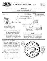 pro stock auto meter tach wiring diagram wiring diagrams autometer shift light instructions at Auto Meter Pro Comp 2 Wiring Diagram