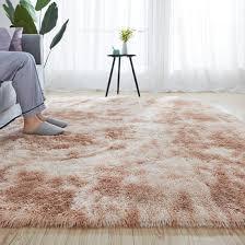 Motley Fluffy Rug Soft Plush Carpets For Living Room Home