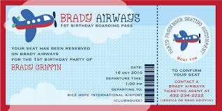 Invitation Ticket Template Cute Brady Airways Boarding Pass Ticket Template Theme for Kids 42
