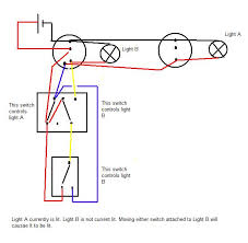 wiring is this inherently correct hopefully you can make out how it works from the circuit diagram essentially the one way light is fed from three core and earth