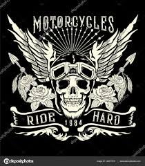Motocyklu Tattoo Art Logo Stock Vektor Vecture 144817041