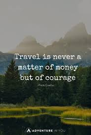 travel photo with inspiring quote