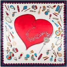 90CM*90CM New Female Hijab <b>Luxury Brand</b> Hearts Print Bandana ...