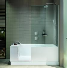 side shot of the shower bath in a modern bathroom