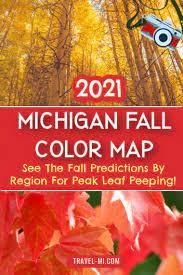 2021 michigan fall color map