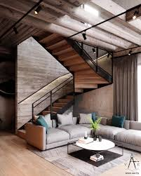 This city house in Minsk, Belarus, is 151m2 of modern loft style ...