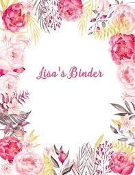 binder cover template pin fl background