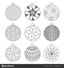 Kleurplaten Kerstballen