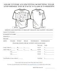 T Shirt Order Forms TShirt Order Form 11