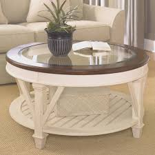 glass circle genoa round wood coffee table with glass top in dark espresso blue glass round