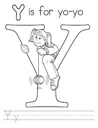 Small Picture Letter Y Coloring Pages Free