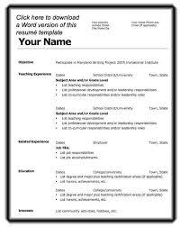 Basic Resume Template Word. Sample Resume In Ms Word Format Free ...