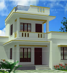 Small Picture Small Flat Roof Double Stories House Kerala Home Design And Floor
