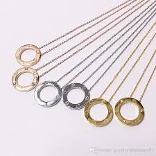 whole whole hot jewelry beautiful large ring pendant necklace big cake all nails smooth titanium steel necklace pendant women s jewelry