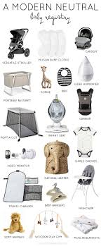 a modern neutral baby registry  thoughts by natalie  little