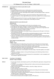 Ict Specialist Sample Resume Solutions Sales Specialist Resume Samples Velvet Jobs 22