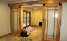 barn door with glass style interior doors adorable design ideas of awesome tub enclosure
