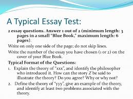 professor rosenstand s guide to essay tests ppt video online  a typical essay test 2 essay questions answer 1 out of 2 minimum