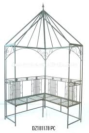 metal arbor for antique garden wrought iron arbors with bench wedding rose