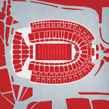 Ohio State Buckeyes Stadium Seating Chart Ohio Stadium City Prints Map Art Stuff I Want