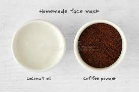 Coffee beans and coconut oil mixture is good for our face or not. Homemade Face Mask Made Out Of Coconut Oil And Coffee Powder Stock Image Image Of Moisturizing Bowl 107380985