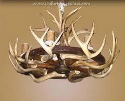 wagon wheel antler chandelier aa 6