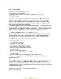 Account Management Job Description Regular Construction Project Manager Job Description Sample 8