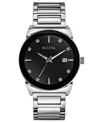 top 10 most popular best selling men s bulova watches the watch bulova diamond men s quartz watch black dial analogue display and silver stainless steel bracelet 96d121