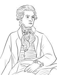 トーマスジェファーソン ぬりえ