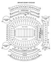 Seating Chart Bryant Denny Stadium Crimson Tide Football