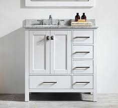 white bathroom vanities with marble tops. 36 Inch White Bathroom Vanity With Carrera Marble Top Vanities Tops