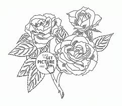 Small Picture Coloring Pages Heart Roses Bunch Coloring Pages Hellokids