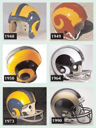 Pro Football Helmet Design Fullback Fred Gehrke Of The Cleveland Rams Designed The