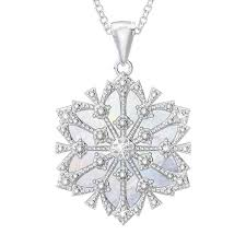 granddaughter diamond snowflake pendant