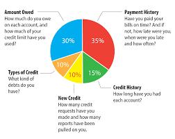 Credit Score Pie Chart Pie Chart Fico Factors Mnh Financial Services