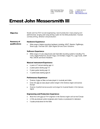 Audio Visual Technician Resume Examples Best Of A V Technician